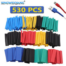 530pcs/Set Home Color Heat Shrinkable Tube Insulating Sleeve Electrician Tape