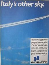 1980'S PUB FIAT AVIAZIONE CIVIL MILITARY AERO ENGINES TURBINES GEARBOXES AD