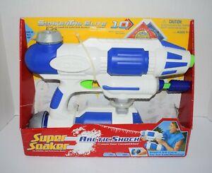 Vintage 2004 Super Soaker Arctic Shock Soaker Tag Elite Water Gun with Targets