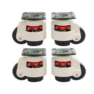 55056 4PCS Set Swivel Heavy Duty Machine Levelling Castors Wheels 40 to 100MM