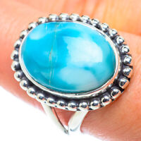 Larimar 925 Sterling Silver Ring Size 9.5 Ana Co Jewelry R55720F