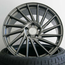 18 Zoll ET45 5x112 Keskin KT17 Grau Alufelgen für Seat Leon Typ 5F