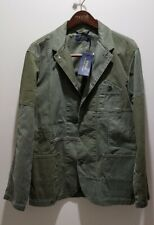Polo Ralph Lauren HBT Military Officer Jacket Mens Green Multi L RRP $449