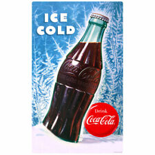 Coca-Cola Bottle Ice Cold Wall Decal 15 x 24 Vintage Style Kitchen