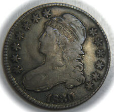 1830 Capped Bust Silver Half Dollar - 50C - No Reserve!