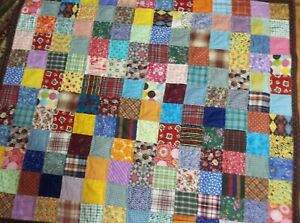 LIKE GRANDMA USED TO MAKE-handmade Lap/Sofa/Child'sQuilt/ /bed topper/throw