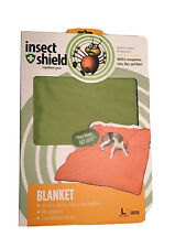 New listing Insect Shield Repellent Gear Green Dog Blanket Large 74x56 W New Free Shipping