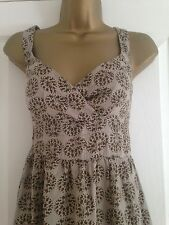 BNWT NEXT Brown Khaki Calf Length Dress & Top Set Size 10 RRP £50