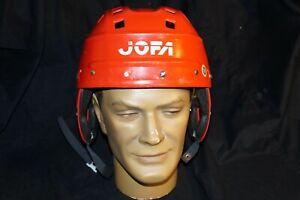 JOFA Hockey Helmet RED SR/JR Adjustable Great Condition Made in Sweden
