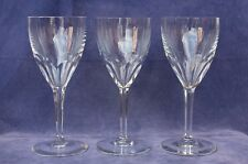 """Baccarat Set of 3 Clear Crystal GENOVA Pattern 6½"""" Claret Wines - 3 Sets Avail."""