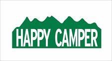 "3 Happy Camper Helmet Toolbox Motorcycle Window Bumper Decal Stickers 3"""