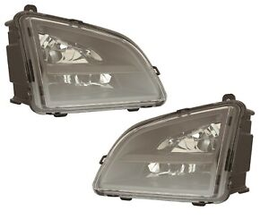 FITS VOLVO VNL TRUCK RIG 2018-2020 LED FOG DRIVING LIGHTS BUMPER LAMPS PAIR NEW
