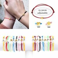 Simple Black Red Adjustable Rope String Lucky Bracelet Heart Star Women Lovers