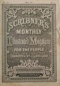 Scribners Illustrated Antique Magazine May 1880 Edgar Allan Poe Engraving