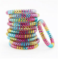 6 Telephone Wire Cord Fashion Colorful Spiral Shape Hair Accessories Bands USA