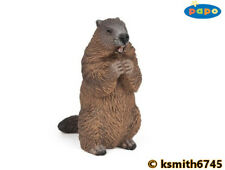 Papo MARMOT solid plastic toy wild zoo animal rodent squirrel  * NEW *💥