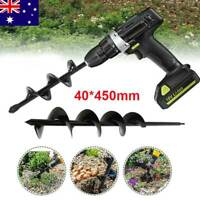 40*450mm Garden Spiral Plant Drill Bit Hole Planter Home Earth Auger Digger Tool