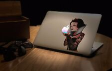SW004 Tattoo Snow White Eating Apple Macbook Decal fits 11 inch
