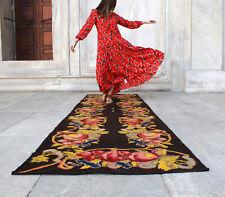 "Handmade Vintage Decorative Caucasian Moldovan Kilim Patchwork Runner 11'9""x38''"