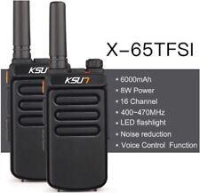KSUN X-handheld walkie talkie portable radio 8W high power UHF Handheld Two