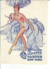 MC-202 - Latin Quarter, New York, Diamond Fair Program, E.M. Loew, Risque Illust