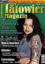 Tätowier Magazin 8/1999 August,Skelett Motive,Eus,222,Philadelphia,Antwerpen,Wie