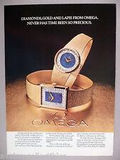 Omega Gold & Diamond Watch PRINT AD - 1977 ~~ wristwatch