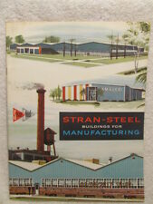 1961 Sales Booklet Advertises Stran-Steel Buildings for Manufacturing Color Pgs.