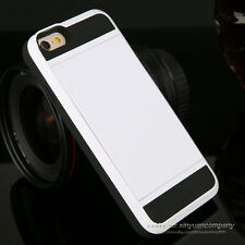Shockproof Hybrid Slim Card Wallet Hard Back Phone Case Cover For iPhone Samsung