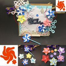 Metal Cutting Die 3D Flower Windmill Pinwheel Scrapbooking DIY Embossing Stencil