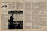 1958 New York Life Insurance Career Mathematician Vintage Print Ad 2843