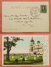 1906 DPO 1862-1939 SOUTH POLAND ME MAINE CANCEL GOLF TOURNAMENT POSTCARD