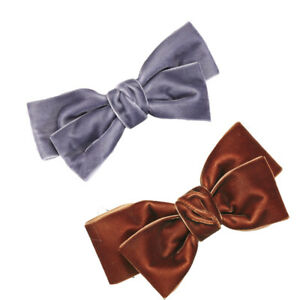 Cute Velvet Knotted Bow Hair Clips Solid Color Hairpin Girls Women Barrettes