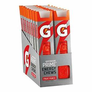 Gatorade Prime Energy Chews Body Fit Endurance & Energy Fruit Punch Pack of 16
