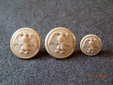 WWII US Womens Army Corps WAC Uniform Button Replacement SET - 2 Front / 1 Cuff