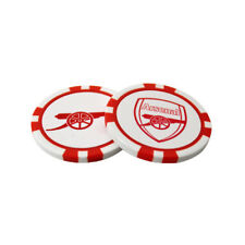 ARSENAL FC 2 POKER CHIP GOLF BALL MARKERS IN GIFT SET