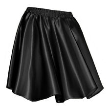 S Women Lady Satin Pleated Retro High Waist Shiny Mini Skirt Boho Girl 27 Color
