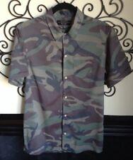 ALLSAINTS Japanese cloth button front camo size xs blouse