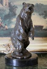 Kodiak Grizzly Bear Lodge Wildlife Lodge Artwork Bronze Marble Statue Sculpture