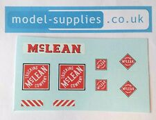 Dinky 948 McLean Tractor Trailer Unit Reproduction Waterslide Transfers Set
