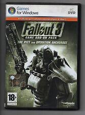 Fallout 3 Game Add-on Pack The Pitt Pc Eccellente Stampa Italiana con manuale