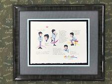 Ron Campbell Original Model Sheet Drawing Beatles Paul McCartney Custom Framed