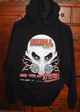 Skull Gear Men's Size Large Black Gildan Heavyweight Hoodie Pull Over