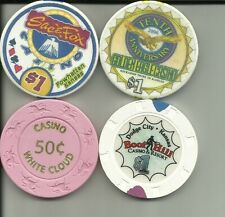 4 MISC CASINO CHIPS A16