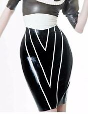 R1421 Vendetta Pencil Latex Rubber Skirt *Shown* 8UK Westward Bound SECONDS