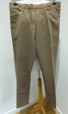 BNWT Prada green brown linen blend slim leg casual trousers 42 10 12 NEW chinos