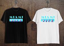 New Miami Vice Logo 80's Retro TV Show Men's T-Shirt Black and White