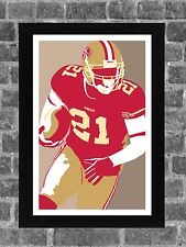 San Francisco 49ers Frank Gore Portrait Sports Print Art 11x17