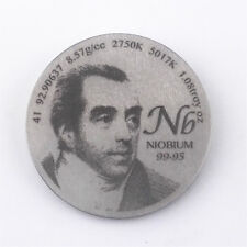 Pay Tribute to Niobium Discoverer 1.5inch diameter Pure Nb Metal Coin