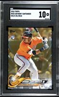 2018 Topps Gold /2018 Anthony Santander #433 Rookie RC SGC 10 Gem Mint Orioles